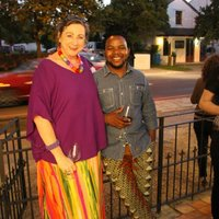 Eugenie with Andile Dyalvane