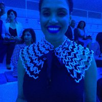 Peggy Sue Khumalo - wearing piece at SAFW